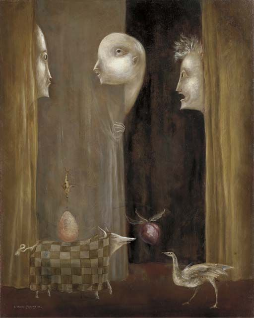 The visitors 1960 Leonora Carrington