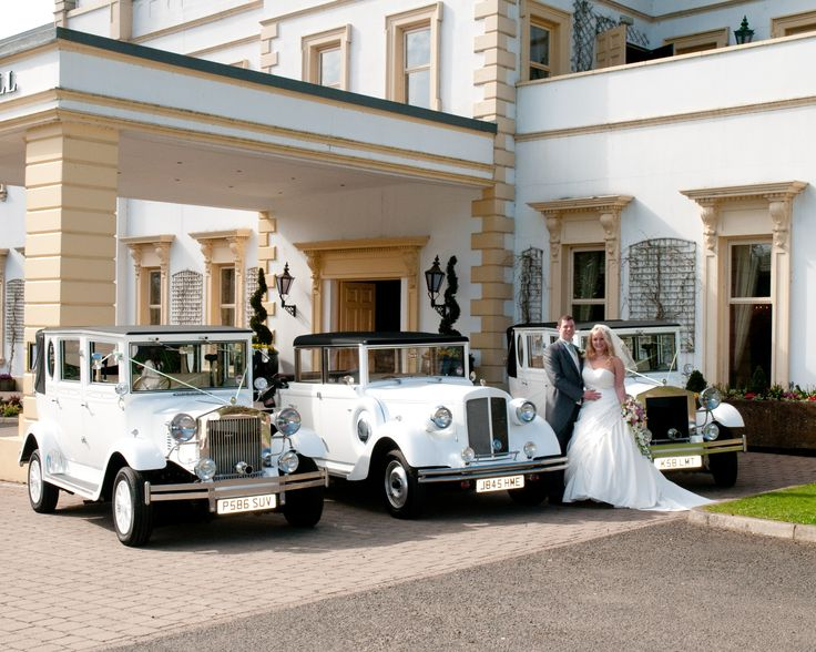 David Andrews, Wedding Cars Belfast    White Imperial and 2 white Balmorals