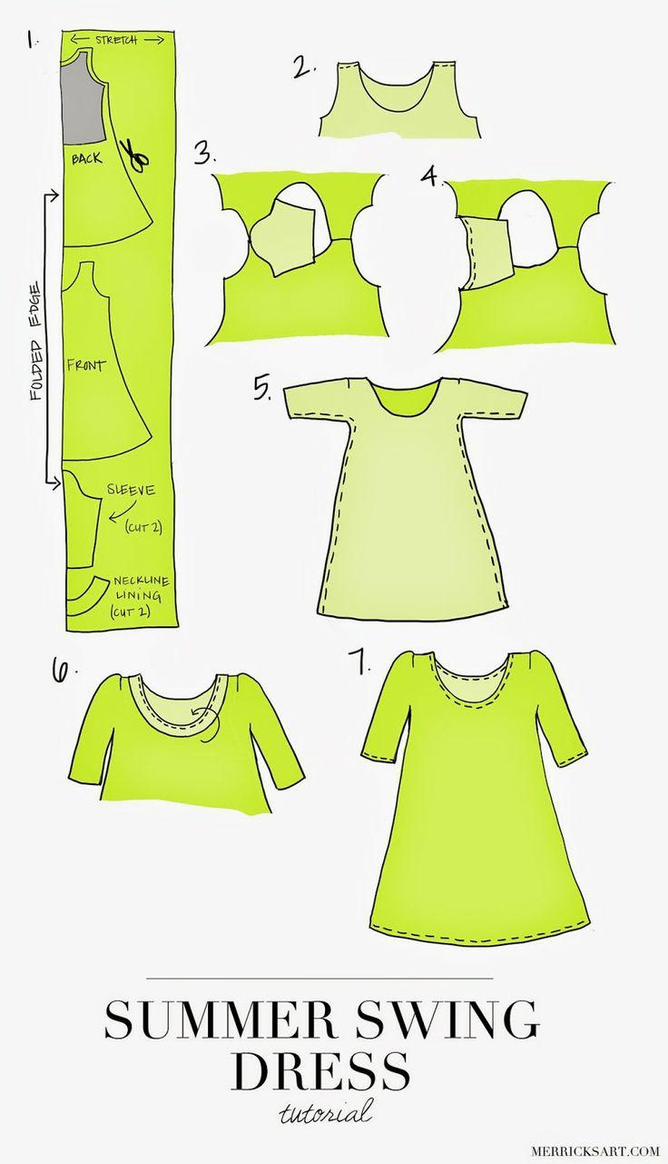 Merricks Art: THE PERFECT SUMMER SWING DRESS (TUTORIAL)