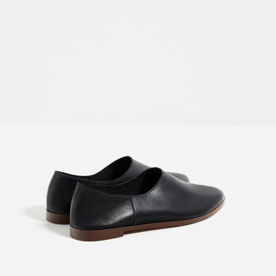 Image 7 of FLAT LEATHER SHOES from Zara