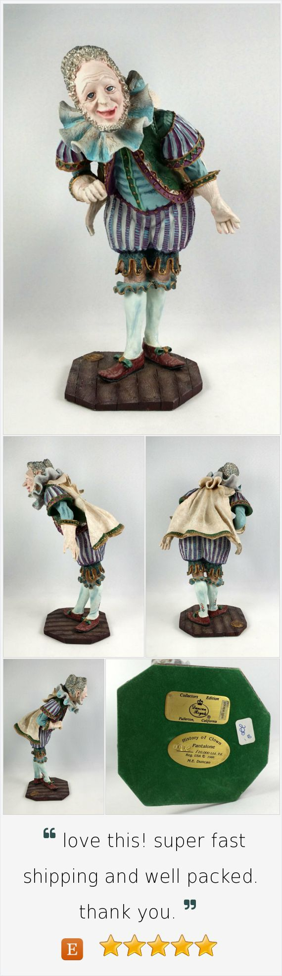 Duncan Royale History of Clown Pantalone Figurine Ltd Edition 162 / 120000 Rare