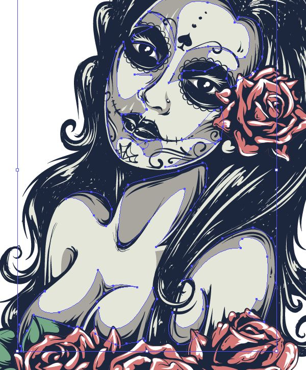 In this tutorial I will show you how to create a tattoo styled sexy Day of the Dead girl in Adobe Illustrator. You will learn how to use your own photo as a source for a vector illustration. We...