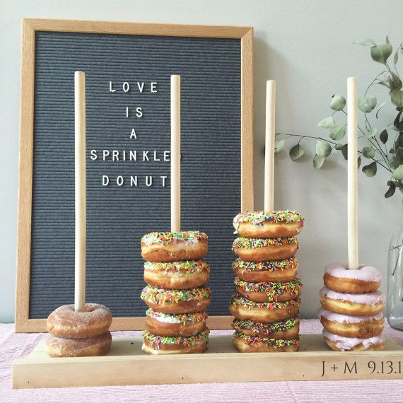 Wedding donut stand is definitely a necessity | FreestyleMom/Etsy