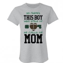 Show how tough you are as a football mom wit this long sleeve tee. When you've done the things you've done, nothing phases you. You've washed your son's dirty, game-worn, socks with your bare hands. You've smelled the rancid odor of his football pads. You, my friend, are one tough lady.