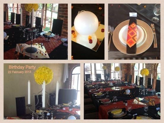 BIRTHDAY PARTY 22 February 2013 Colour : black, yellow, orange. Theme : fun squares