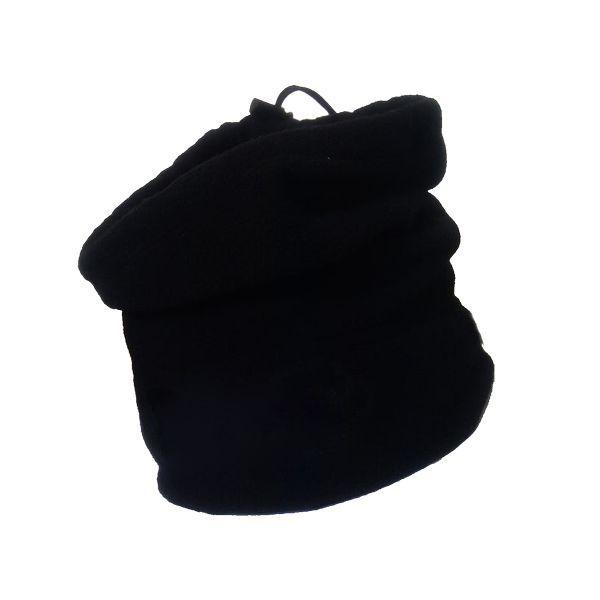 Κάλυμμα λαιμού φλίς COSA με κορδόνι μαύρο