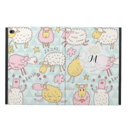 Funny Sheep Pattern Pastel  Powis iPad air 2 case - diy cyo personalize design idea new special custom
