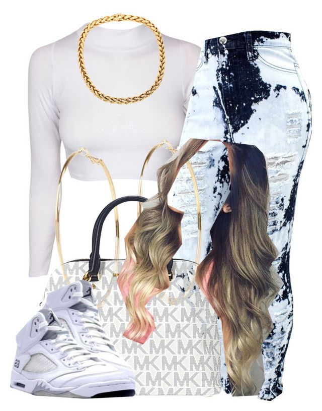 """""""."""" by trillest-queen ❤ liked on Polyvore featuring River Island and Michael Kors"""