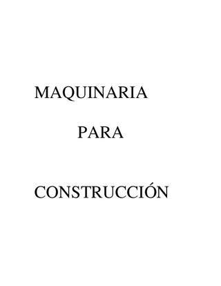 Maquinaria para Construccion