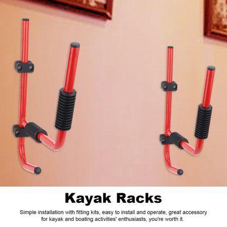 2pcs Kayak Wall Mount Rack Heavy Duty Storing Storage Hangers Canoe w// Fittings