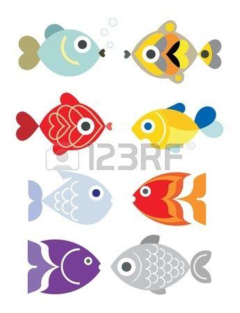 Decoratieve aquarium vissen Stockfoto