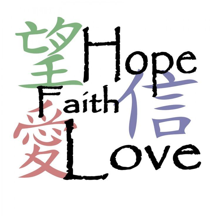 Chinese Symbol For Hope Faith Love