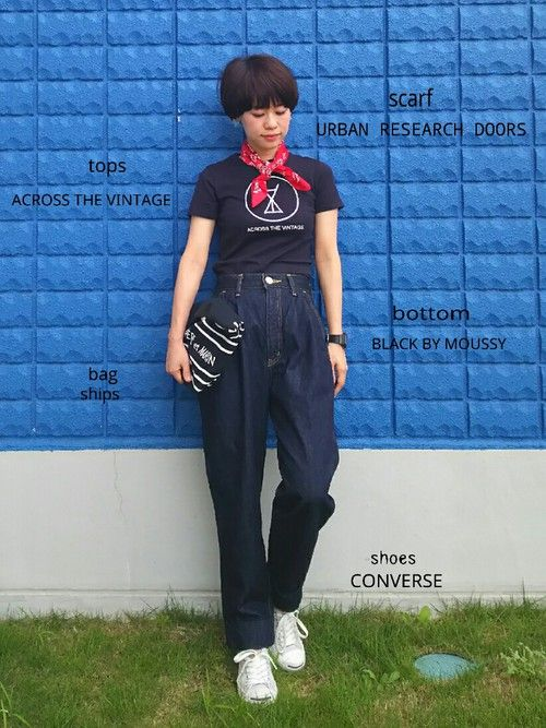 YUKIさんの「KIBO onewash Denim(BLACK BY MOUSSY)」を使ったコーディネート