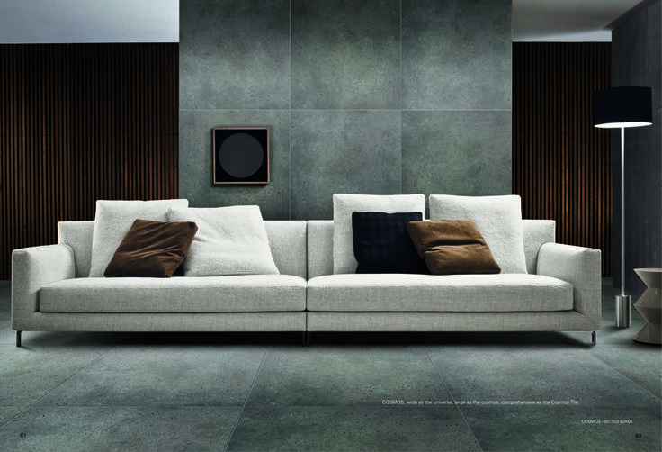 NKOS Dark Grey Concrete Look Porcelain 600 x 600 floor tile and wall tile available at Nerang Tiles
