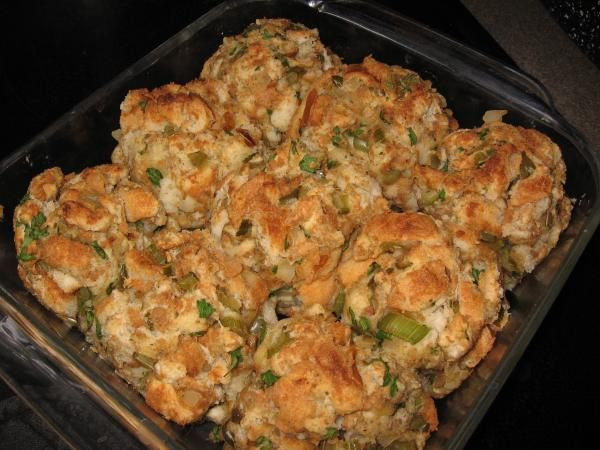 Stuffing Balls for Thanksgiving - yum - can make and freeze prior to holiday