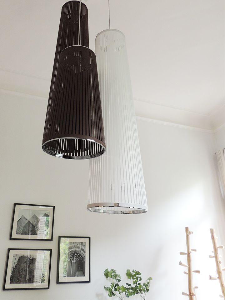 Lámparas Solis en blanco, negro y chocolate. #solsken www.solsken.com.ar