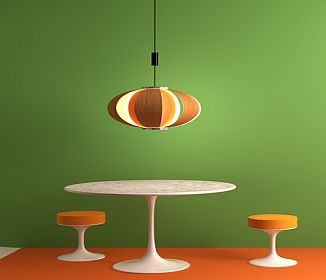 Need To Have One Of These Pull Down Lamps. Mid Century Dining Table