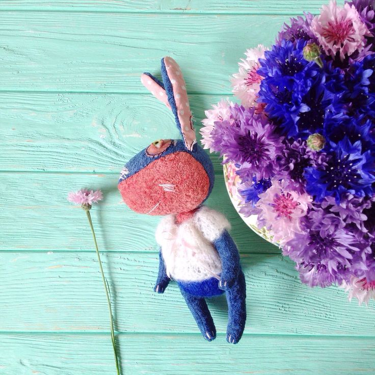 A personal favorite from my Etsy shop https://www.etsy.com/listing/399017379/bunny-rabbit-toy-blue-and-pink-stuffed