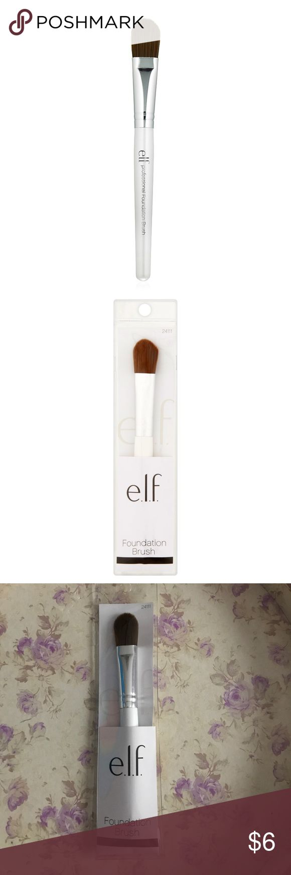 Elf Foundation Brush NWT!!! Elf Foundation Brush That Achieves an Ultra Smooth Finish When Applying Foundation Or Tinted Moisturizer... Love To Bundle Happy Poshing 🤗🤗🤗 ELF Makeup Brushes & Tools