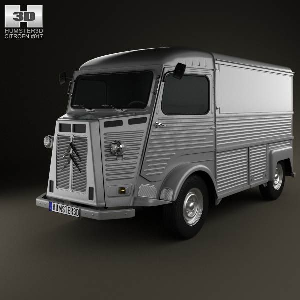 Citroen H Van 1980 3d model from humster3d.com. Price: $75