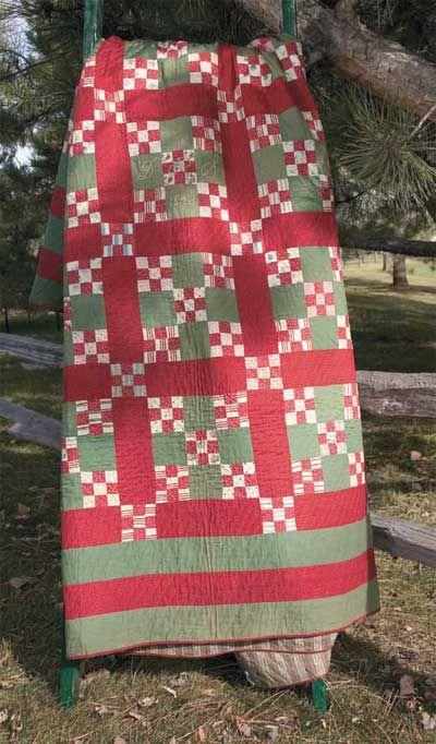 Vintage View 1893 Nine Patch Friday Freebie: 1893 Nine Patch Vintage Bed Quilt Pattern