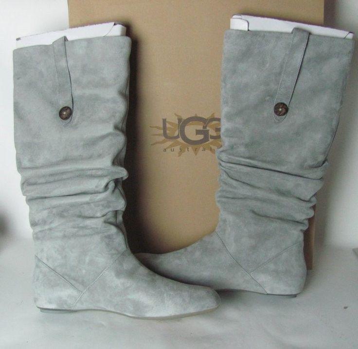 UGG Australia Women's Classic Tall Grey Boots SIZE 11 W HIGHKOO S/N 5765 #UGGAustralia #SnowWinter