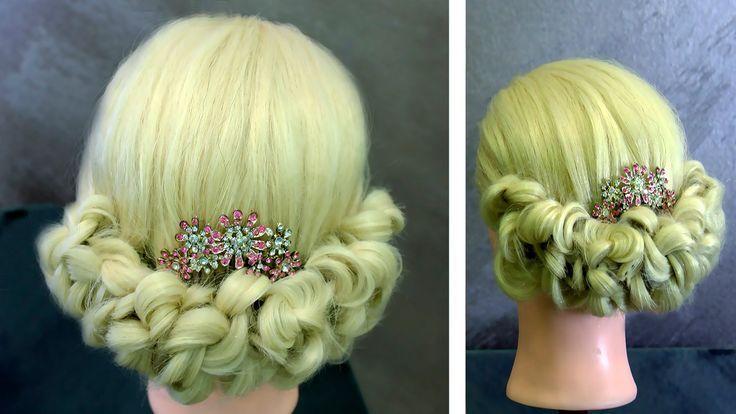 Bow Braid Hairstyle Prom / Elegant Wedding Bun