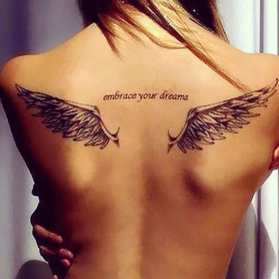 Good and Evil Angel Wings Tattoos (12)