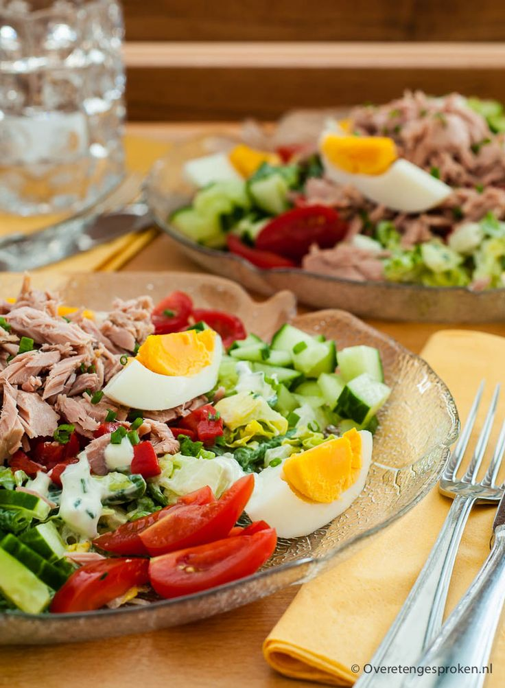 Tonijnsalade - Een snelle maaltijdsalade die heel lekker maar ook gezond is!