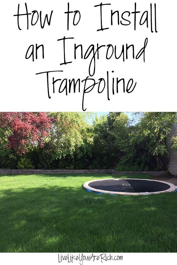 How to Install an Inground Trampoline | Inground Trampoline | Inground Trampoline DIY | Inground Trampoline with Net | Inground Trampoline Pool | Inground Trampoline Backyards