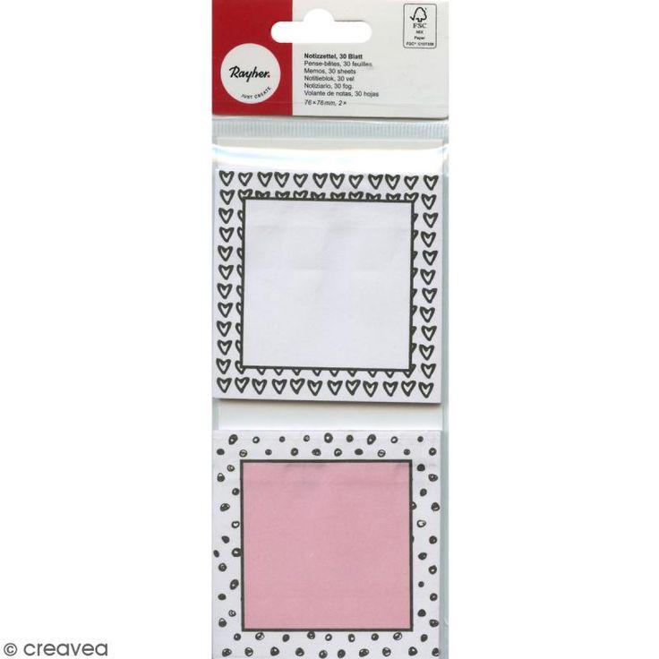 Compra nuestros productos a precios mini Set de Notas adhesivas - Lunares y corazones - 2 bloques - Entrega rápida, gratuita a partir de 89 € !