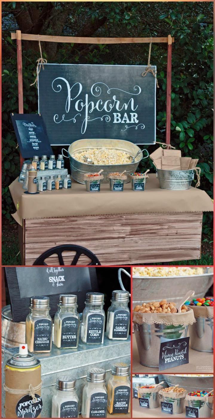 Chalkboard Popcorn Bar Graduation Party Theme – 50+ DIY Graduation Party Ideas &…
