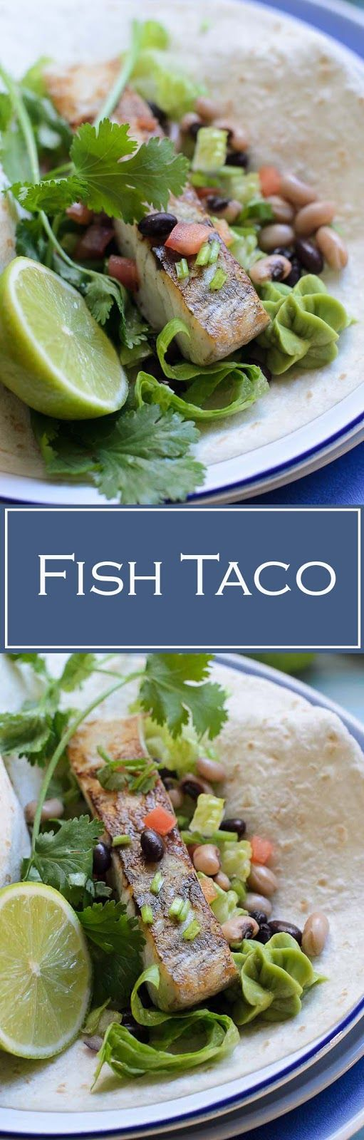 Easy and delicious Fish Taco recipe. Fish makes a healthy option for taco filling. Fish Taco, a great summer meal, originate from Baja Peninsula. Fish taco is serve on warm flour tortillas with mixed beans salsa