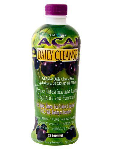 AgroLabs Acai Daily Cleanse, 32-Fluid Ounce Bottle - List price: $24.26 Price: $19.99 Saving: $4.27 (18%)