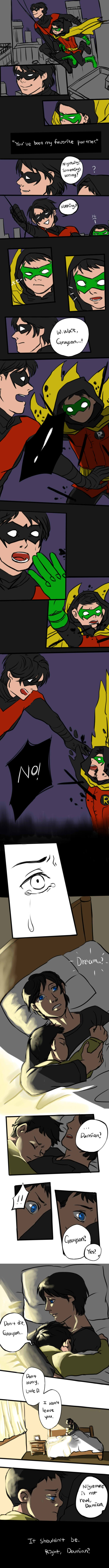 Dick and Damian wayne: nightmare see others of this series: arangyee.deviantart.com/galler… 한글판은 앞으로 여기에 올&#...