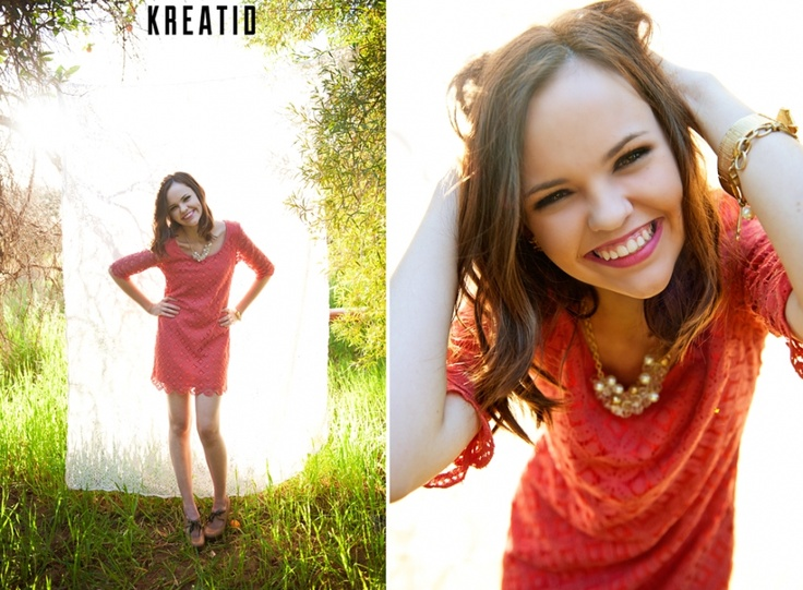 LoVe her use of the white sheet hanging from the tree! BRiLLiAnT!  An Arizona Senior Session | Senior Style Guide