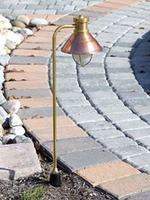 Hadco SPL5 Die-Cast Brass & Spun Copper Nautical Low Voltage Path Light  Hadco Beach & Nautical Style Landscape Lighting - Low Voltage and Line Voltage - Brand Lighting