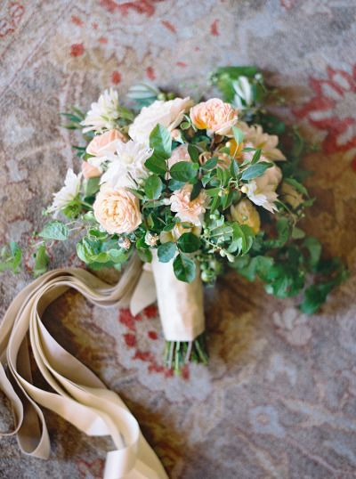 Secret garden bouquet: http://www.stylemepretty.com/2014/02/06/elegant-carmel-wedding-with-photography-by-jose-villa/ | Photography: Jose Villa - http://josevillablog.com/