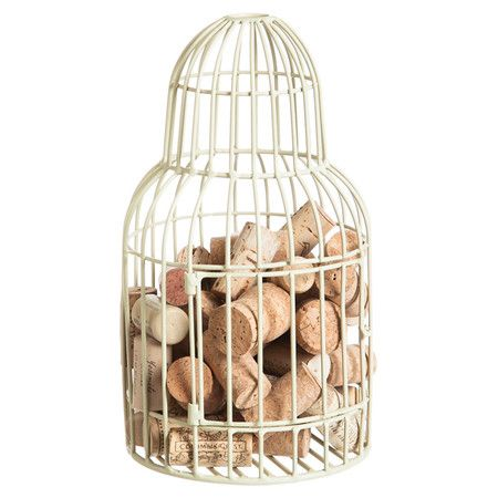 Metal cork holder with a birdcage-inspired silhouette.  Product: Cork holderConstruction Material: Metal