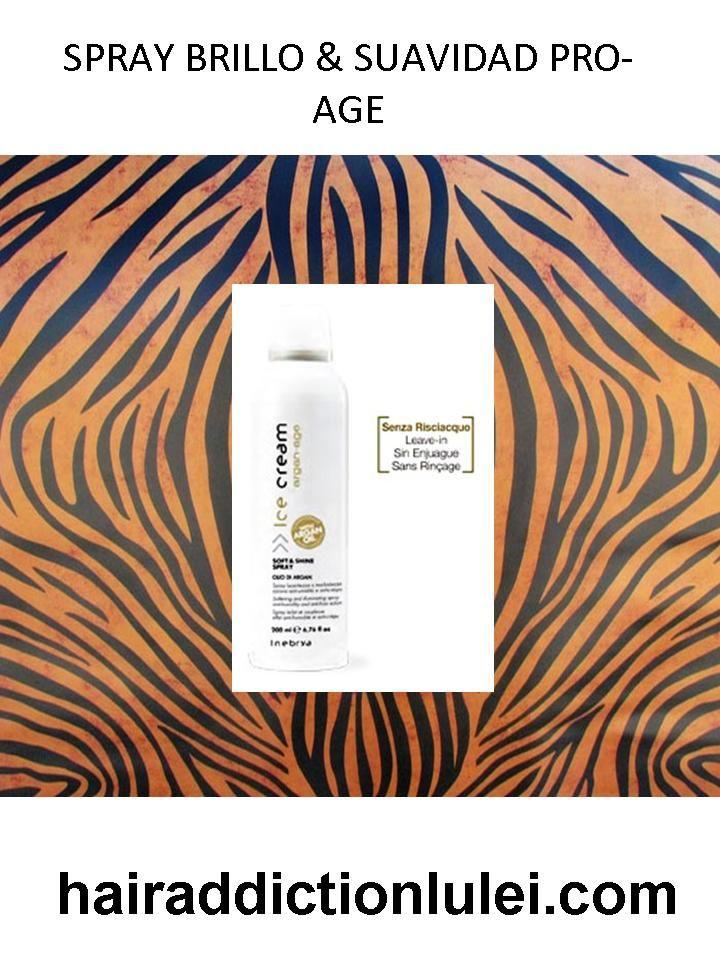 Spray Brillo&Suavidad Pro-Age con Aceite de Argán con efecto anti-crespo y anti-humedad. http://hairaddictionluilei.com/store/LEI/es/lei/349-argan-spray-brillo-suavidad-pro-age.html