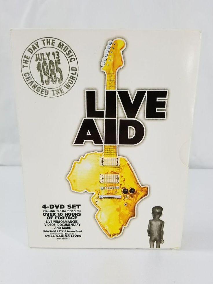 Live Aid Four DVD Set Music Concert PAL Bob Geldof Feed The World 1985  #WoodcharmLTDhttps://www.ebay.com/itm/Otagiri-Coffee-Mug-Santa-Merry-Christmas-Red-Green-Plaid-Gift-Stocking-Stuffer-/263526576746
