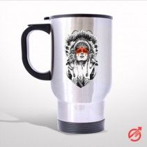 Indian Women Travel Mug