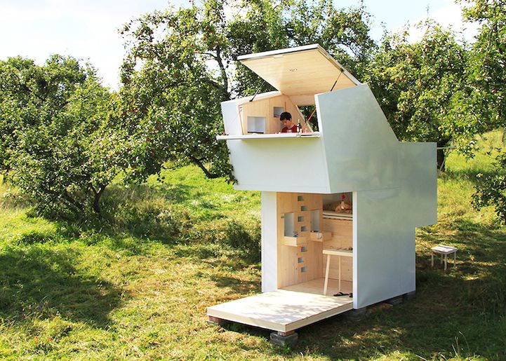 Mobile Wooden Shelter Can Be Placed Anywhere Within Nature - My Modern Met