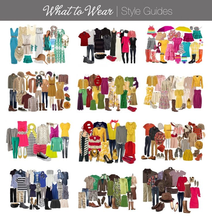 What to Wear    - click on the link and you can see the pictures bigger