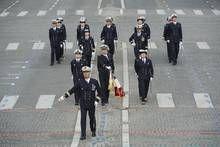 Un Alumni défile sur les Champs-Elysées le 14 juillet 2014