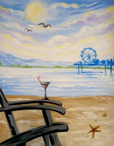 Paint Nite Portland | Jimmy The Greeks Old Orchard Beach 03/04/2015