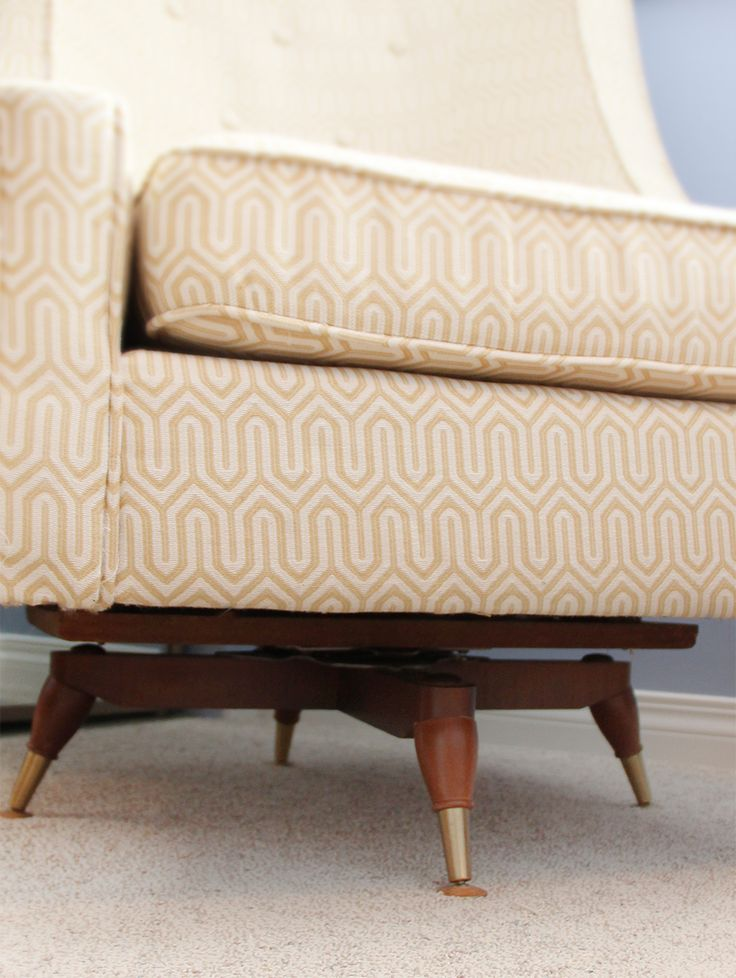 How to add a swivel rocker to any arm chair - DIY.