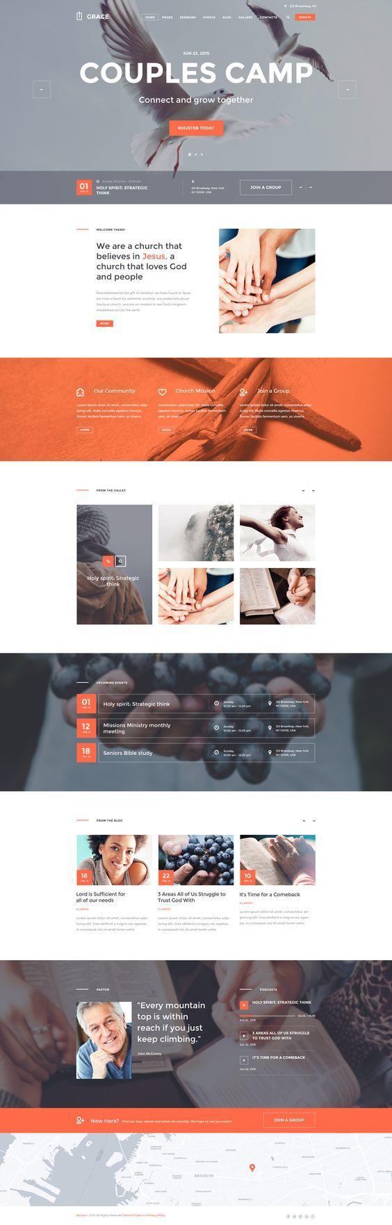 grace church religion wordpress theme - Church Website Design Ideas