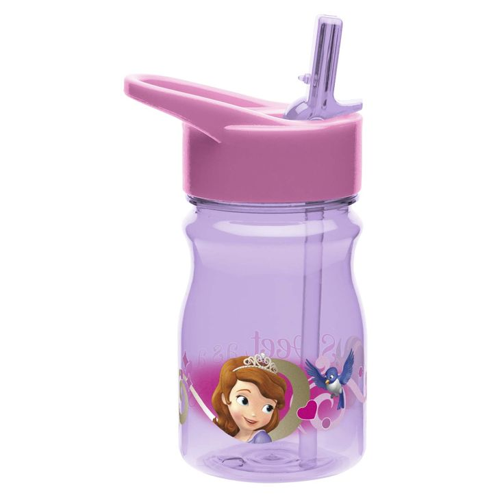 Zak Designs Sofia the First Pre-School Water Bottle with Straw