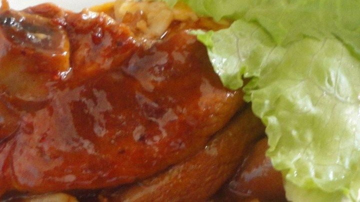 Pork Chops in Beer Whip up a pungent mixture of ketchup, beer and brown sugar for a sweet and sassy pork chop bake.
